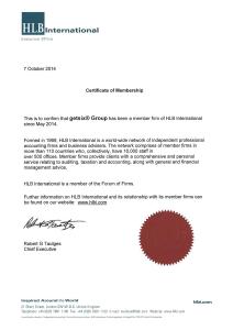 hlb membership certificate
