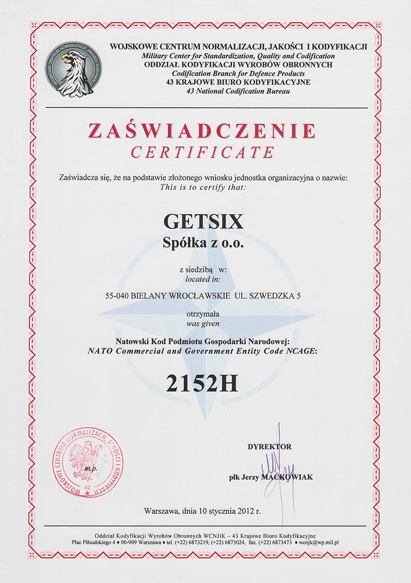 nato getsix certificate