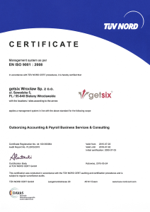 nord 9001 certificate