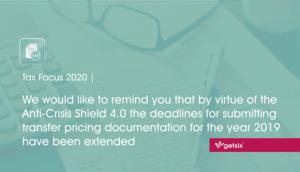 Extended dedlines for submitting transfer pricing documentation - header image