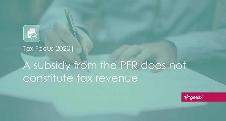 A subsidy from the PFR does not constitute tax revenue