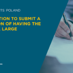 The obligation to submit a declaration of having the status of a large enterprise