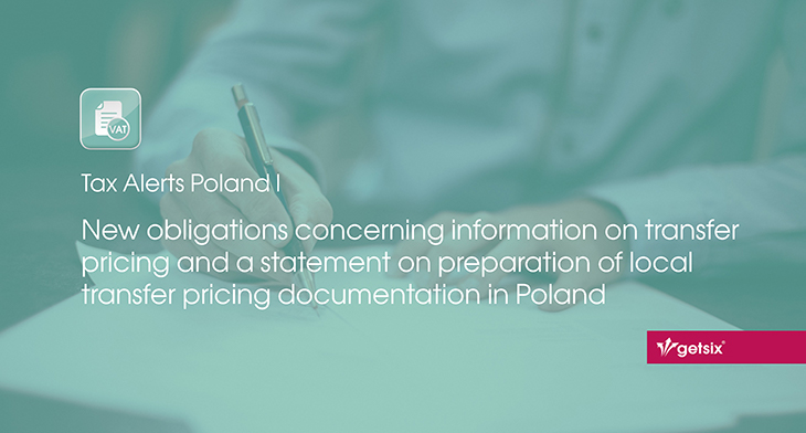 New obligations concerning information on transfer pricing and a statement on preparation of local transfer pricing documentation in Poland