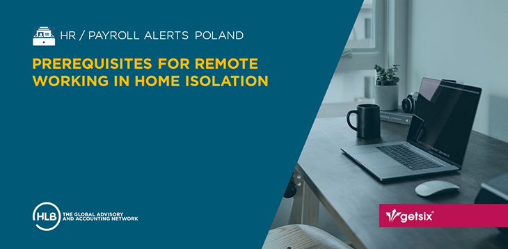 Prerequisites for remote working in home isolation